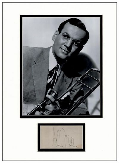 Glenn Miller Autograph Signed Display
